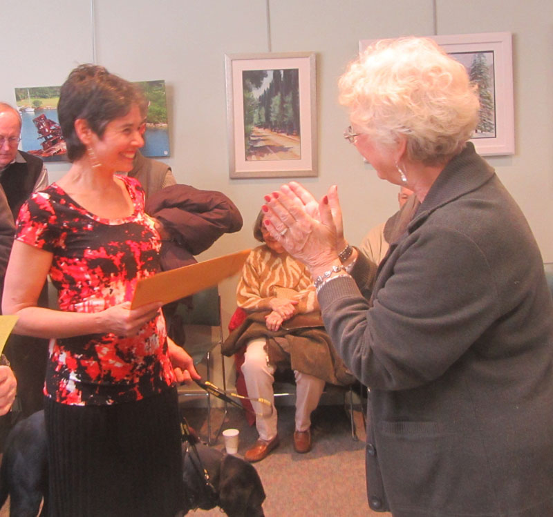 Artist Suzanne Posner 2nd prize at MAA Exhibit